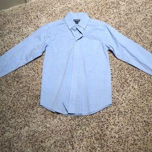 boys size 10 long sleeve chaps button down shirt
